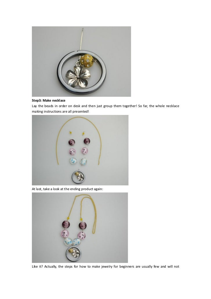 Super Easy Necklace Making Instructions About How To Make