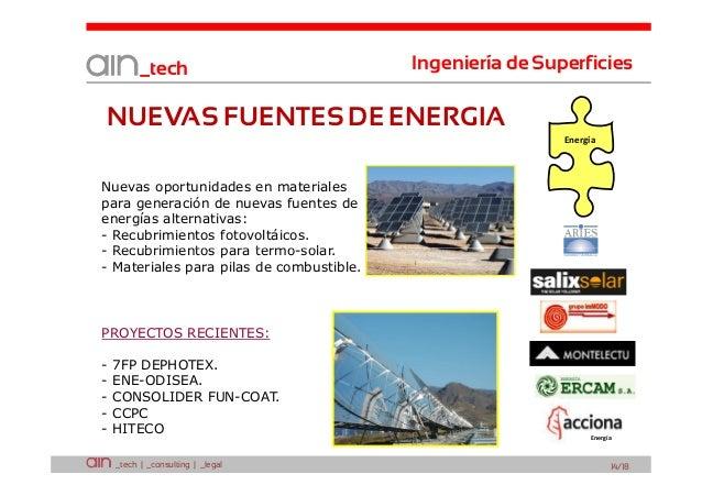 _tech  Ingeniería de Superficies  NUEVAS FUENTES DE ENERGIA Energía  Nuevas oportunidades en materiales para generación de...