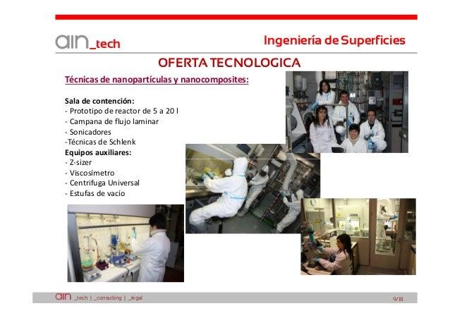 Ingeniería de Superficies  _tech  OFERTA TECNOLOGICA Técnicas de nanopartículas y nanocomposites: Sala de contención: - Pr...