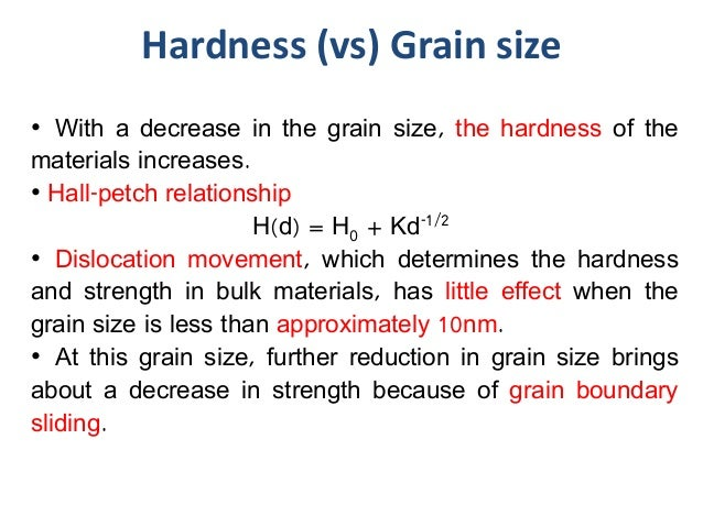 relationship between grain size and crystallite