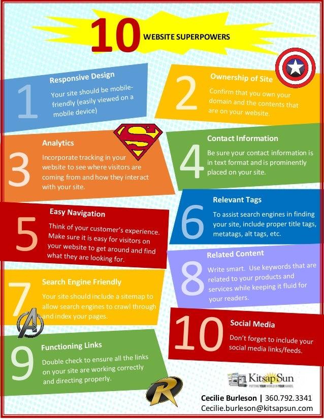 Website Superhero flyer