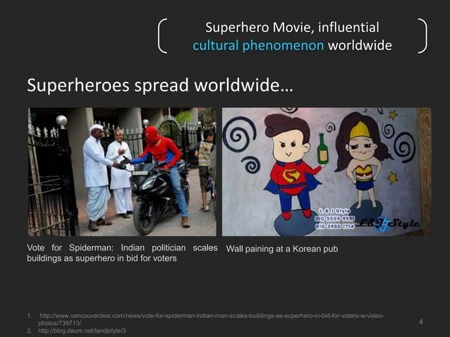 Superhero Movie, influential  cultural phenomenon worldwide  Superheroes spread worldwide…  4  Vote for Spiderman: Indian ...