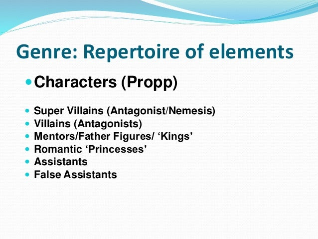 Super Villains & Antagonists  Mirror/Shadow  Nemesis  Mad Scientist  Madman/Anarchy/Misrule  World Dominator/Bad Ment...