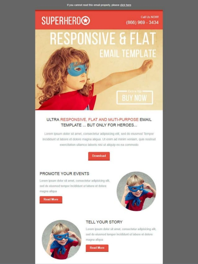 SuperHeroo Email Template Email Marketing Templates Kokoawebcom At - Web design email marketing templates