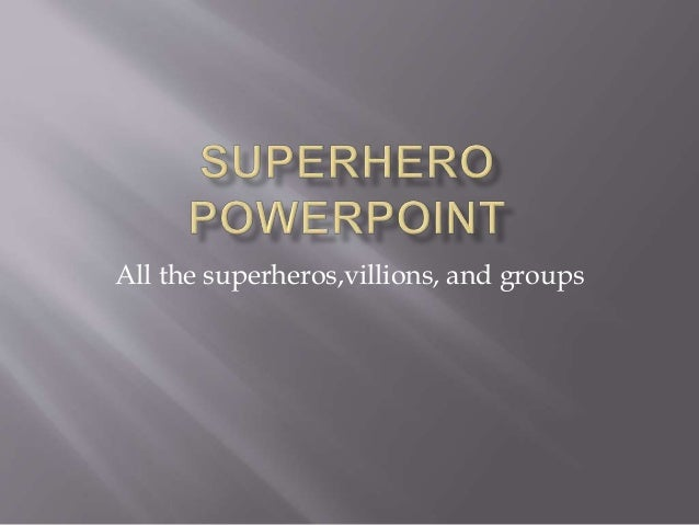 superhero powerpoint