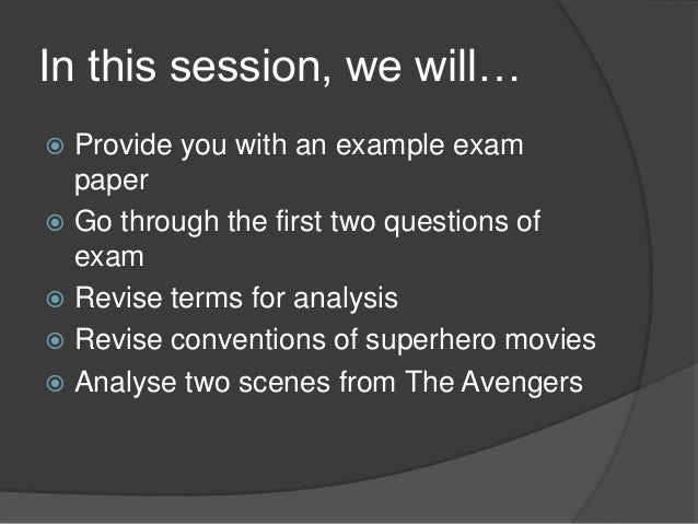 Superhero Revision - Codes and Conventions Slide 2