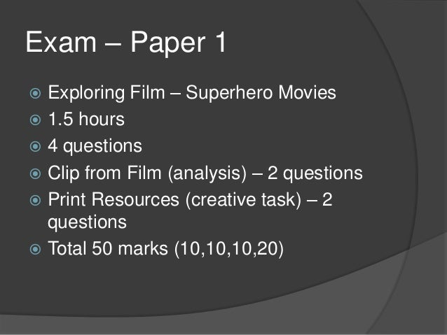 Superhero Revision - Codes and Conventions Slide 3