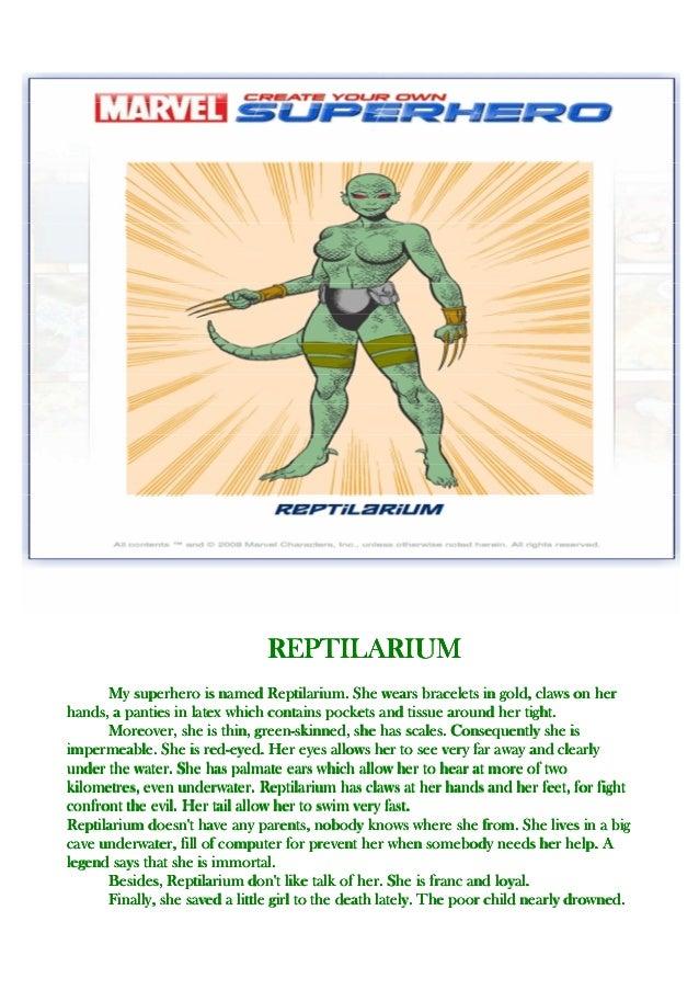 description d un super heros en anglais