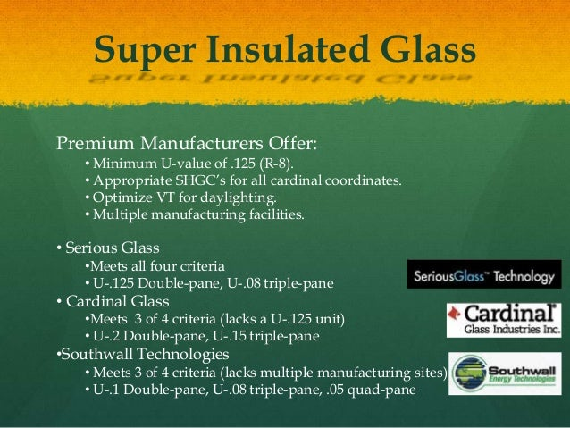Super insulated glass Super insulated windows