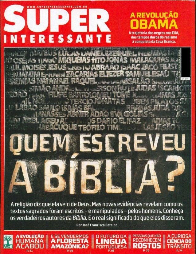 Super interessante   Quem escreveu a Bíblia?