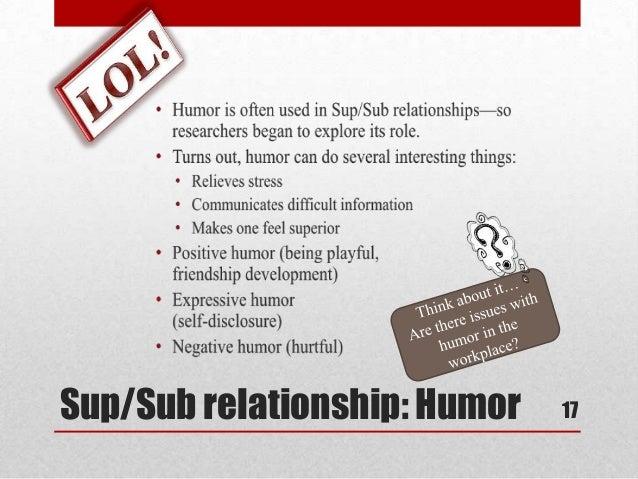 Superior and subordinate communication