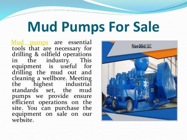 Superior Quality Mud Pumps Sold At Pickett Oilfield