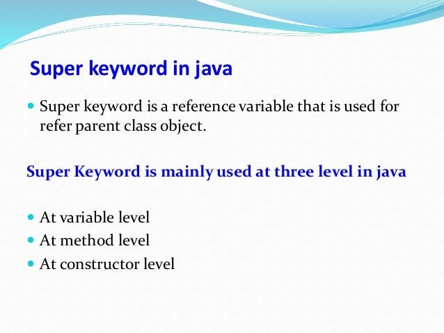 three different uses of final keyword in java