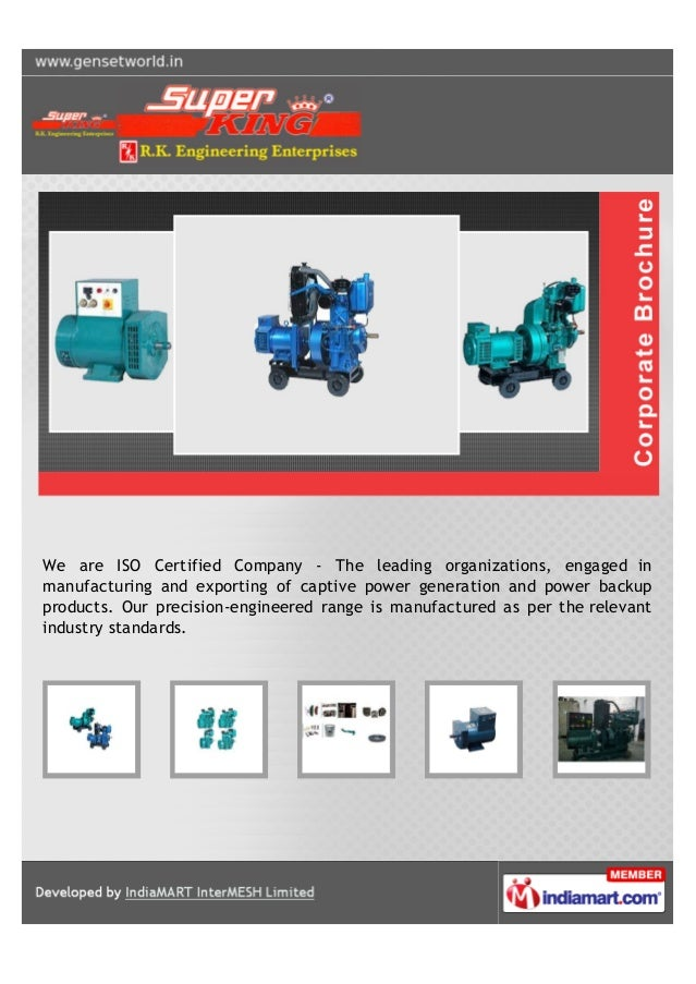 We are ISO Certified Company - The leading organizations, engaged inmanufacturing and exporting of captive power generatio...