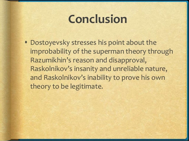 19th Century Theories in Dostoevsky's Crime and Punishment