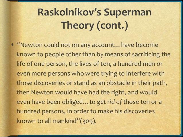 Crime and punishment raskolnikov s extraordinary man theory
