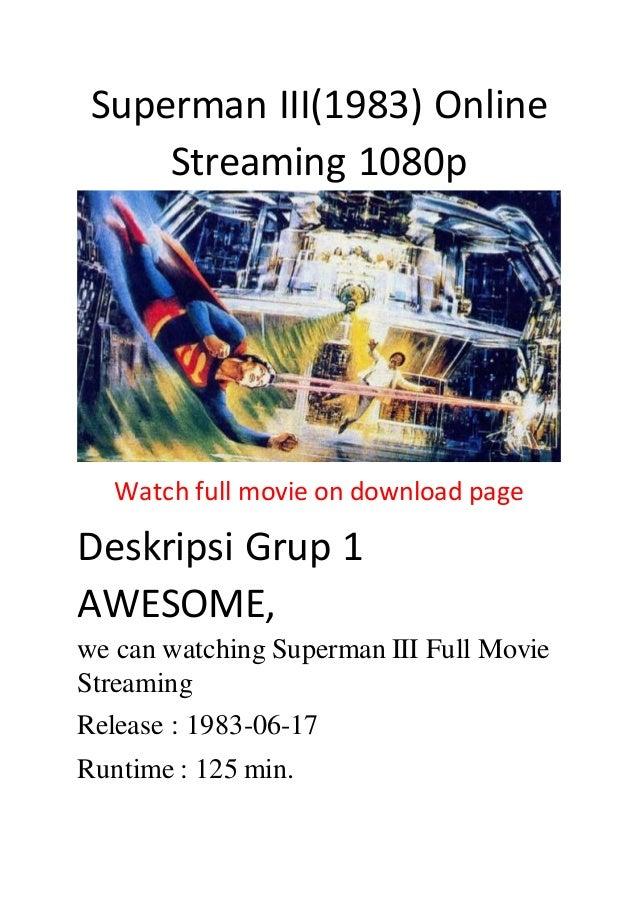 superman 3 stream