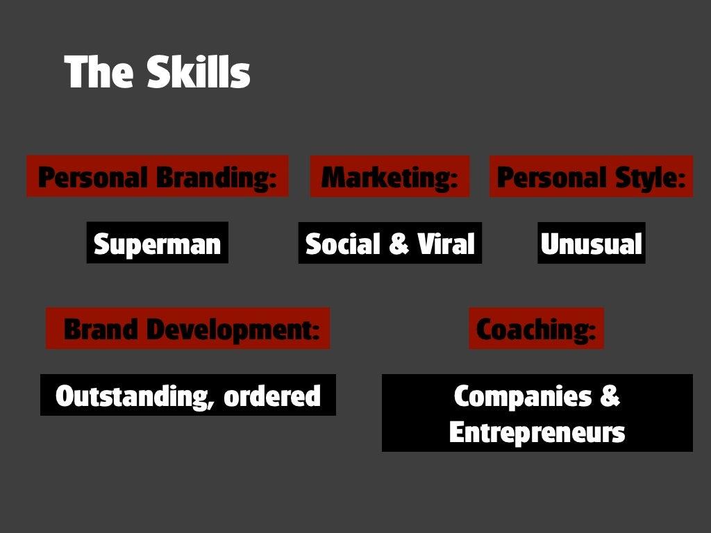 the skillspersonal branding marketing personal