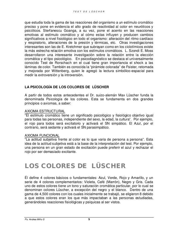 manual del test de luscher