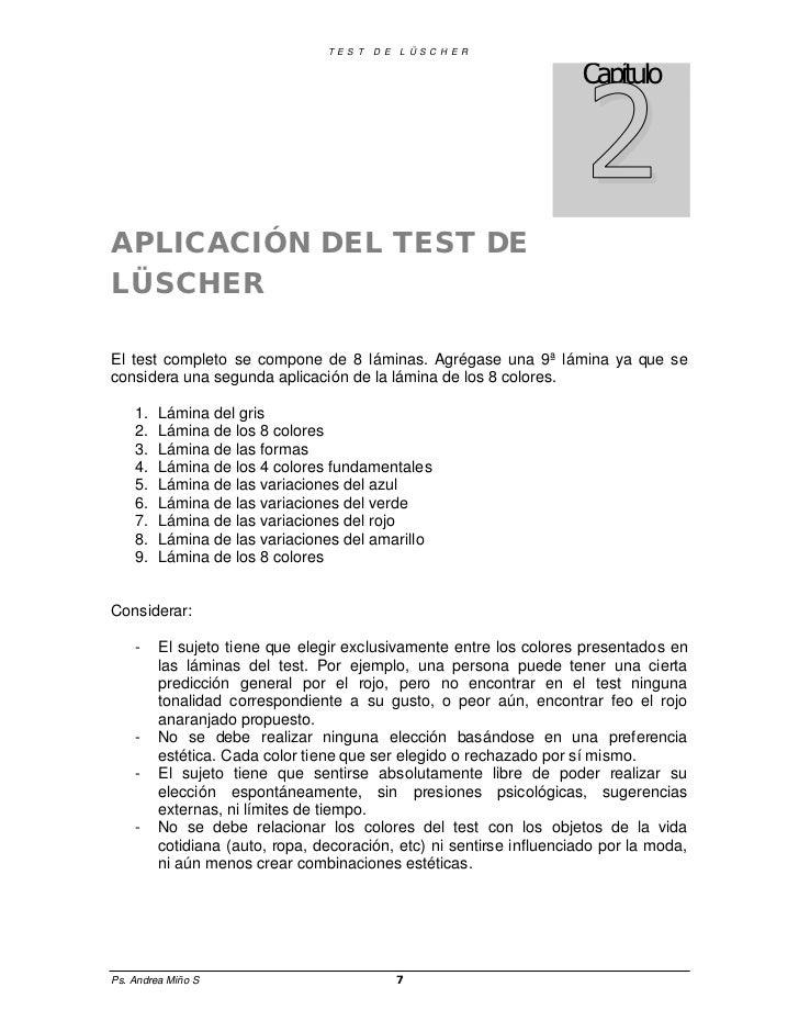 laminas del test de luscher