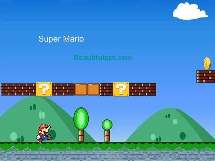 cartoon powerpoint template - super mario, Modern powerpoint