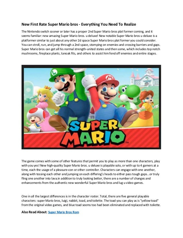 New First Rate Super Mario bros - Super Mario Bros Rom