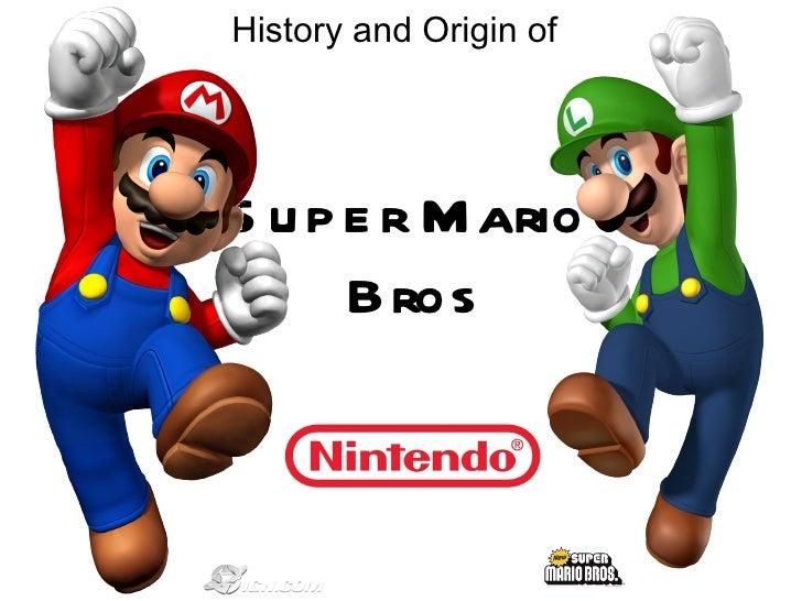 History and Origin of Super Mario   Bros