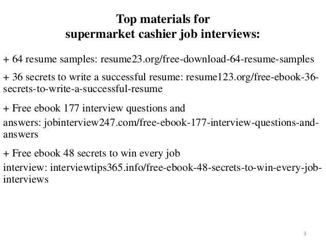 Supermarket Cashier Resume Sample Pdf Ebook Free Download