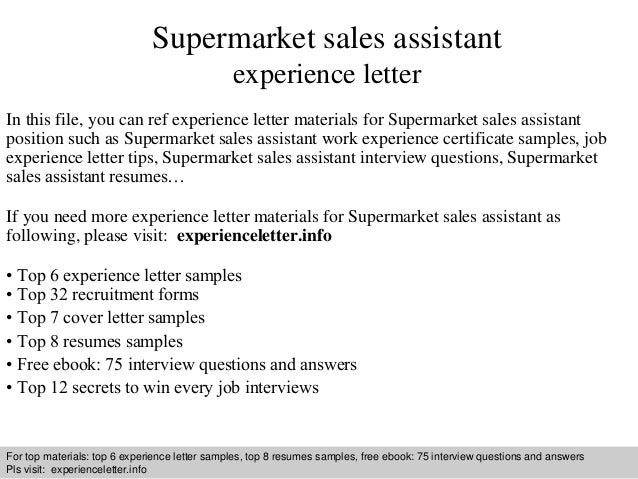Supermarket sales assistant experience letter 1 638gcb1409228240 supermarket sales assistant experience letter in this file you can ref experience letter materials for experience letter sample yelopaper Choice Image