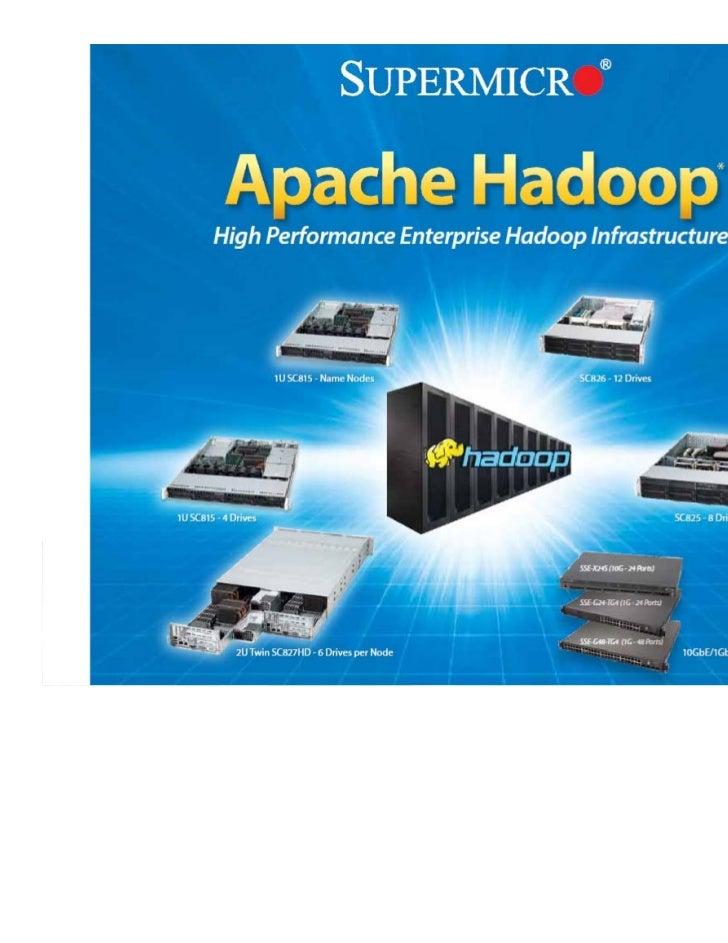 Enterprise and Data Center  Hadoop Infrastructure                             © Supermicro 2012