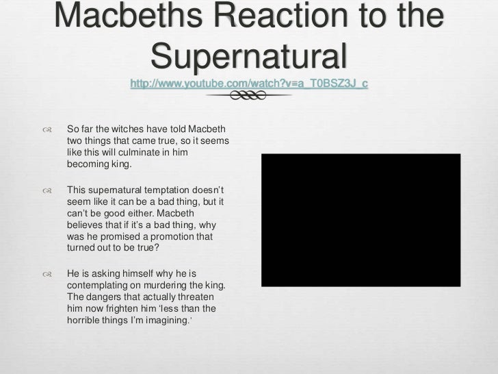 supernatural elements in macbeth pdf