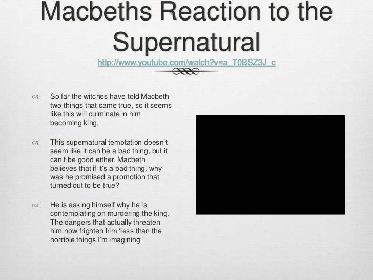 supernatural phenomenon in macbeth