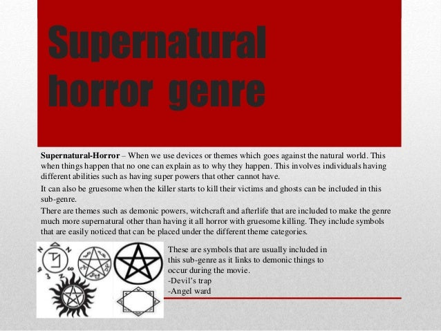 Supernatural Horror Genre