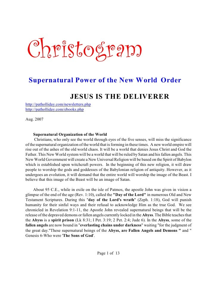 Christogram  Supernatural Power of the New World Order                             JESUS IS THE DELIVERER http://pathollid...