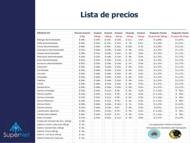 Super Net Lista Precios Feb 2015