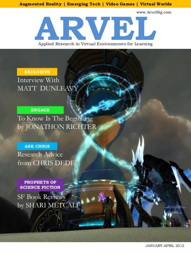 Augmented Reality | Emerging Tech | Video Games | Virtual Worlds      ARVEL                                               ...