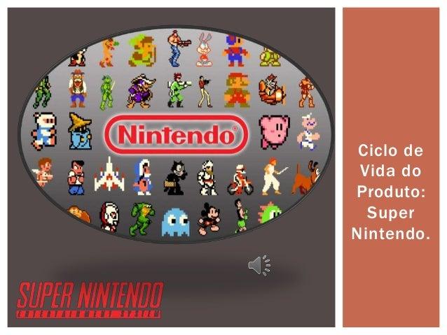 Ciclo de Vida do Produto: Super Nintendo.
