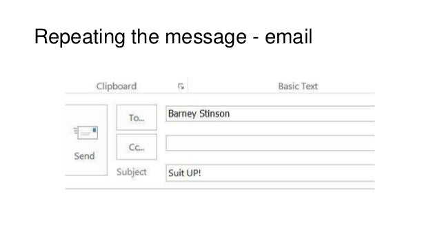 Repeating the message - email