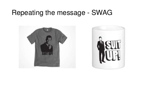 Repeating the message - SWAG