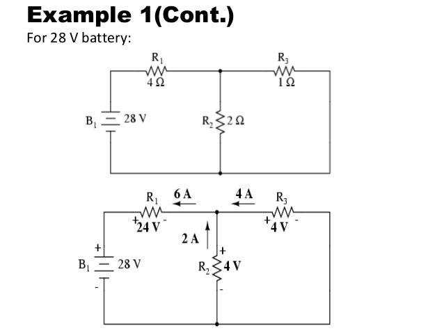 superposition of ac and dc sources