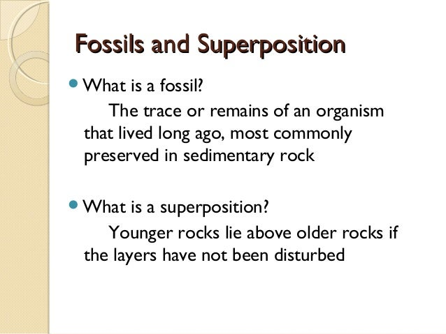 what is the method of dating fossils The use of different dating methods on the same rock is an excellent way to check the claim: radiometric dating is based on index fossils whose dates were.