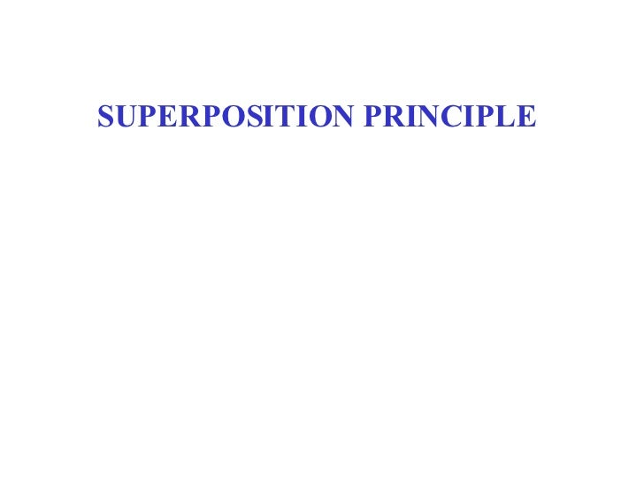 SUPERPOSITION PRINCIPLE