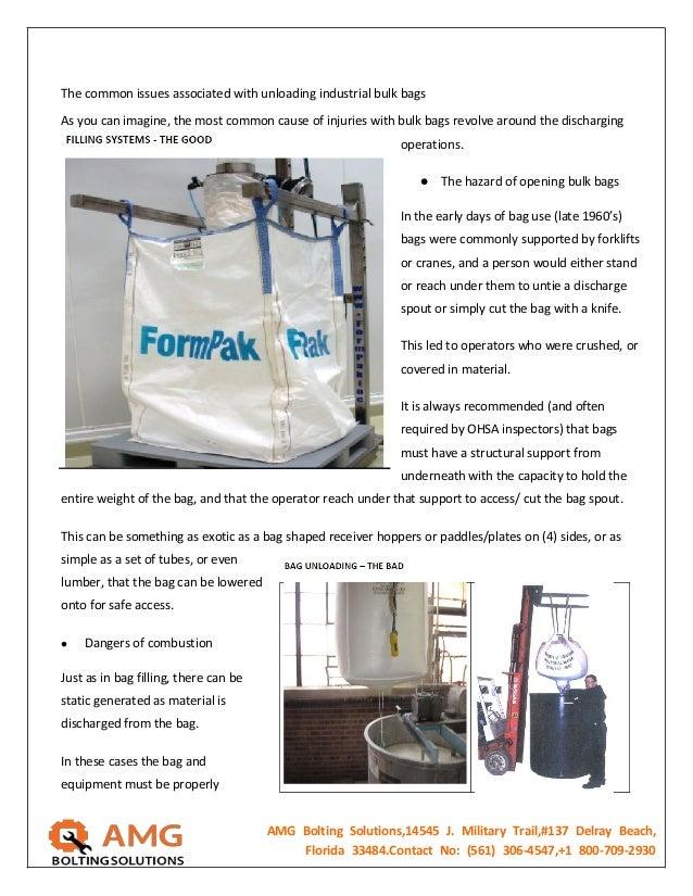 Super Sack Handling Equipment Safety Equipment Fastening