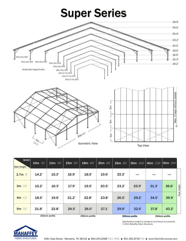 Mahaffey Super Series™ - Clear Span Fabric Structure