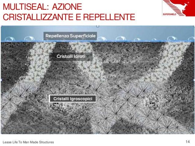 Lease Life To Man Made Structures 14 MULTISEAL: AZIONE CRISTALLIZZANTE E REPELLENTE