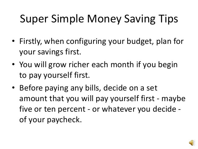 Super simple money saving tips4 Slide 2
