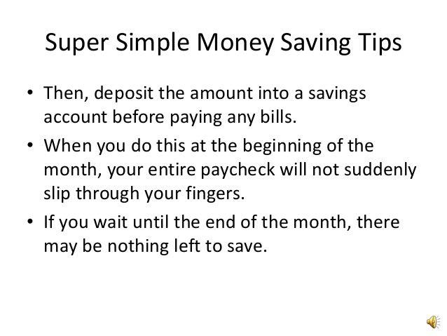 Super simple money saving tips4 Slide 3