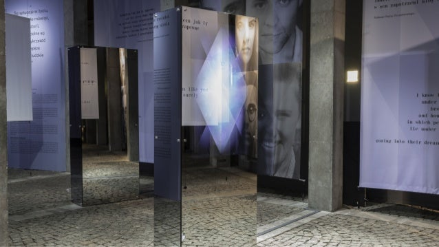 In the interaction, the installation makes a photo of a visitor with a hidden camera.The photo is analyzed to detect the v...
