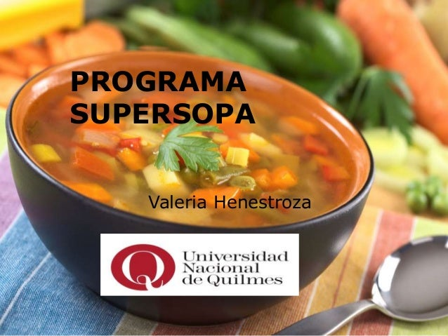 PROGRAMA SUPERSOPA Valeria Henestroza