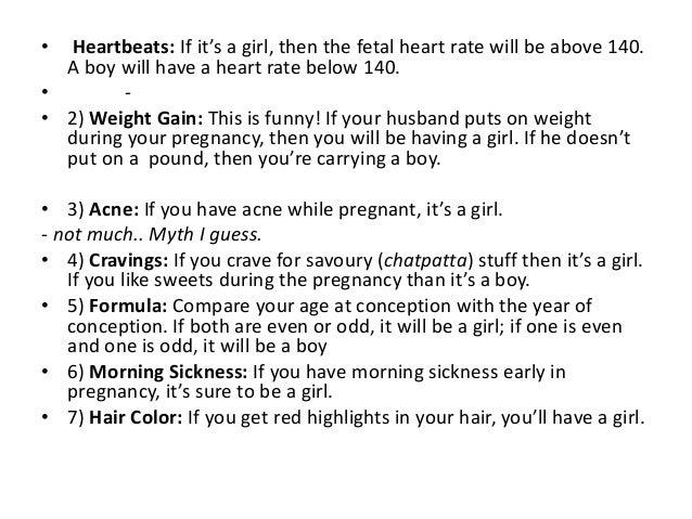 9. • Heartbeats: If it's a girl ...